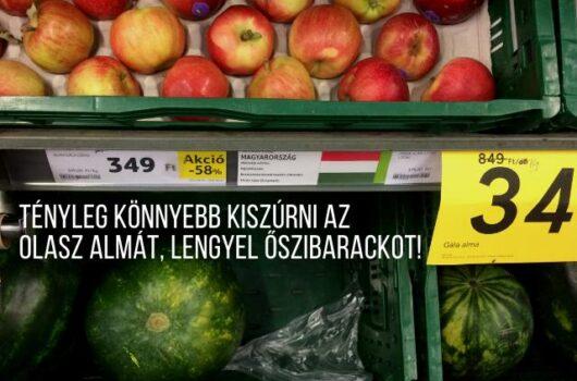 új élelmiszer jelölés zöldség gyümölcs