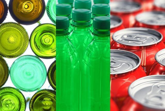 PET aludoboz üveg italcsomagolás hulladék