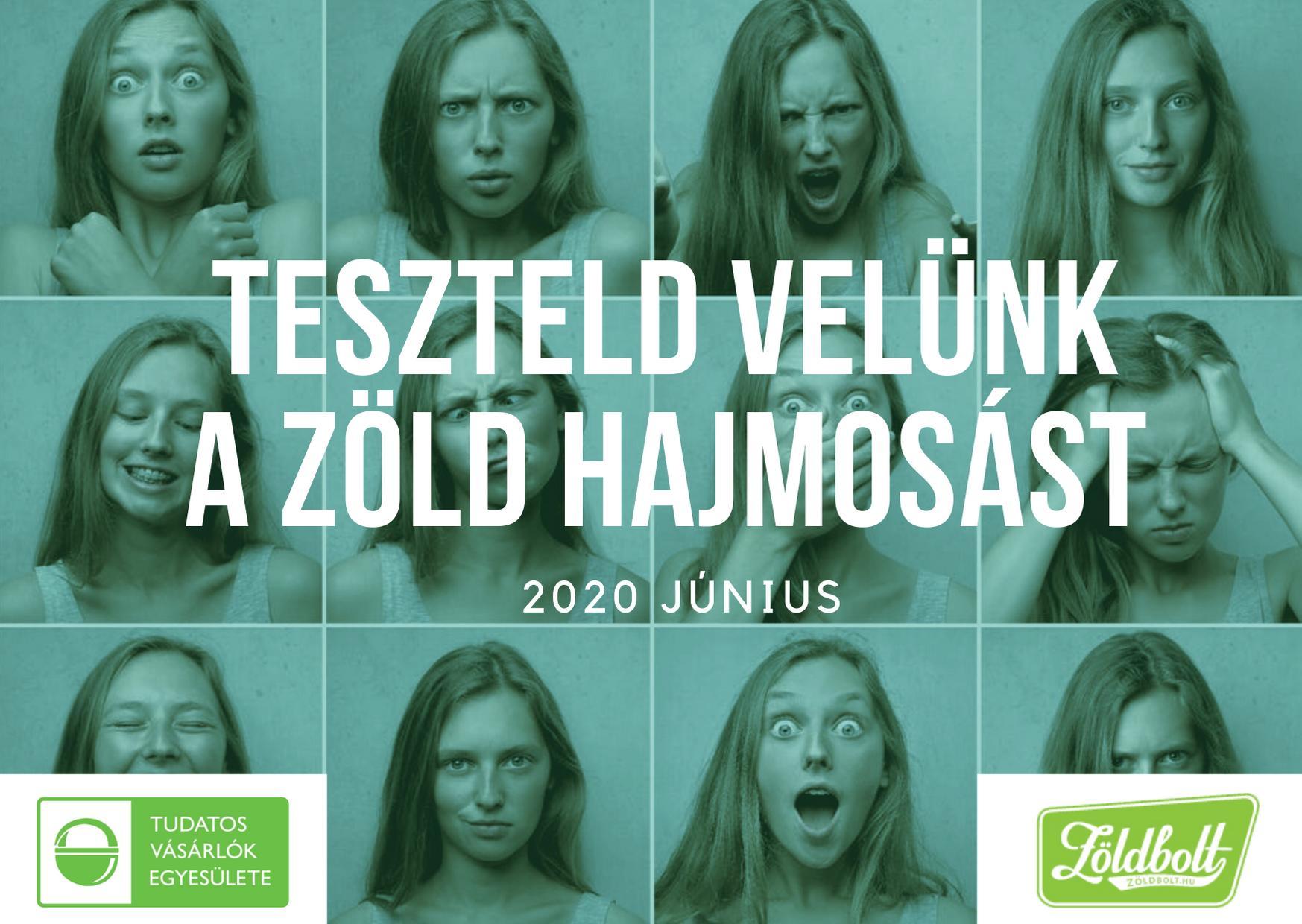 Öko-hajmosás kihívás 2020 június