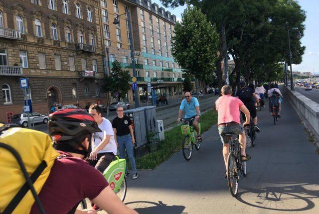 kerékpáros forgalom buda