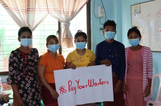tisztességes megélhetést biztosító bér myanmari munkások CCC