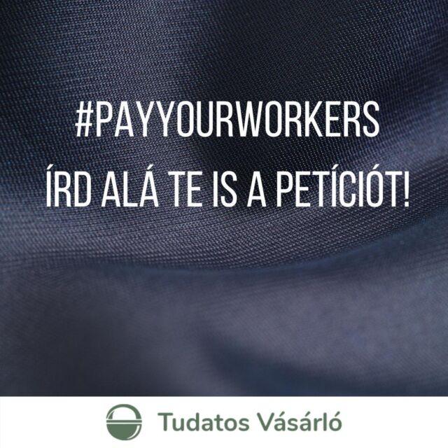 """❗""""Mindenkinek, aki dolgozik, olyan méltányos és kielégítő fizetéshez van joga, amely számára és családja számára az emberi méltóságnak megfelelő létet biztosít…"""" - áll az ENSZ Emberi Jogok Nyilatkozatának 23. cikkében.   👗A #FashionRevolutionWeek kapcsán ismét aktuális a #PayYourWorkers petíció, amelyet 200 civil szervezet fogalmazott meg, és amiben azt követelik a legnagyobb divatipari cégektől, hogy a munkásoknak azonnal fizessenek készpénz-segélyt, és azt, hogy tegyenek betartatható vállalásokat a megroppant ruhaipar megreformálásáért.  🖋️A bióban található linken te is alá tudod írni a petíciót!  #CCC #cleanclothescampaign #petíció #tudatosvásárló #PayYourWorkers #RespectLabourRights """