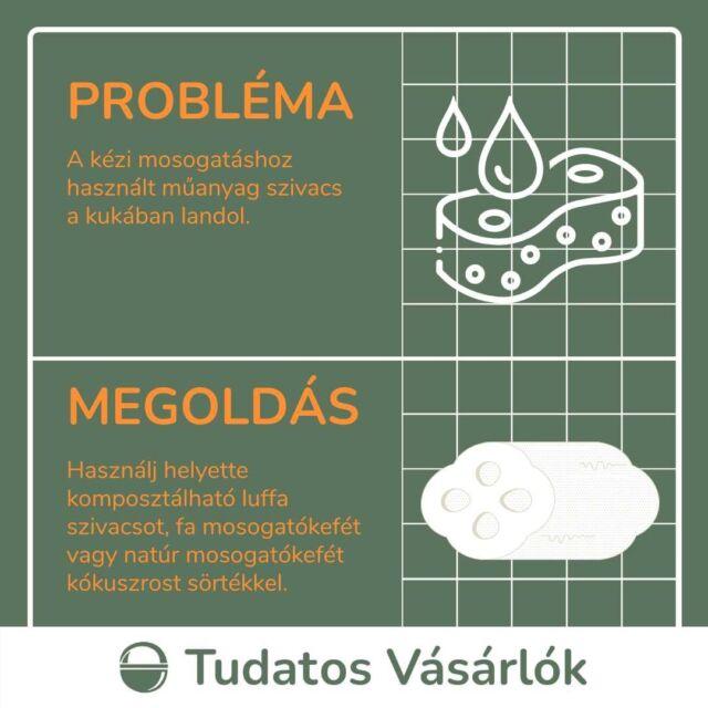 🧽A fürdőszoba műanyagmentesítése után jöjjön a konyha: a kézi mosogatáshoz használt szivacsok hagyományosan műanyagból készülnek, amik aztán a kukában landolnak. Ehelyett válaszd az alternatív eszközöket: 🌿luffa szivacs 🌲fából készült, cserélhető fejű nyeles mosogatókefe 🌿marokkefe növényi sörtékkel 🥥natúr mosogatókefe kókuszrost sörtékkel ♻️Ezek előnye, hogy komposztálhatóak, tehát visszatérnek a természetes körforgásba, ahelyett, hogy szemétté válnának.  🔗Ha kíváncsi vagy, milyen ezeket az eszközöket használni, olvasd el tavalyi közösségi tesztünk beszámolóit a bióban található linken! Kommentben pedig várjuk a további tapasztalatokat!  #greenandsafe #LIFE #közösségikihívás #közösségiteszt #mosogatás #természetesmosogatás #zerowaste #luffa #luffaszivacs #mosogatókefe #zerowastekonyha #műanyagmentesjúlius #tudatosvásáló #tudatosvásálók #tudatosvasarlo