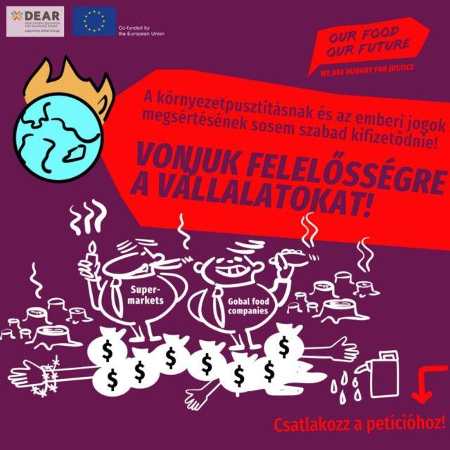 🍅Esőerdők és veszélyeztetett fajok kiírtása, szennyezett földek az egyik oldalon, kizsákmánnyolás, és véget nem érő munka éhbérért a másikon - a környezetszennyezés és az emberi jogok megsértése az ételeink láthatatlan összetevői.  🌎Épp ezek megakadályozására, és a globális élelmiszerláncok átláthatóvá és igazságosabbá tétele érdekében 2020 márciusában az Európai Parlament nagy többséggel megszavazta, hogy a Bizottság nyújtson be hivatalos javaslatot a vállalatok átvilágítást és elszámoltathatóságát szabályozó uniós irányelvre. ❗️Az Uniónak jogilag kötelező érvényű minimumkövetelményeket kellene elfogadnia, amelyek értelmében a vállalkozások kötelesek azonosítani, értékelni, megelőzni, megszüntetni, mérsékelni, nyomon követni, közzétenni, számon kérni, kezelni és orvosolni az esetleges és/vagy valós emberi jogi, környezeti és kormányzási káros hatásokat értékláncukban. Erre a jogszabályra gyakran röviden mHREDD szabályozásként hivatkozunk (Mandatory Human Rights and Environmental Due Diligence). 🗣Didier Reynders (Jogérvényesülés) és Thierry Breton (Belső piac) biztosok feladata az irányelvjavaslat kidolgozása. Věra Jourová, az Európai Bizottság Értékekért és átláthatóságért felelős alelnök szavának itt is rendkívüli súlya lesz a folyamatban. ✍ Írd alá te is a petíciót, amiben arra kérjük az Európai Bizottság három tagját, hogy a javaslat minél hamarabb kerüljön napirendre 👉 https://tudatosvasarlo.hu/ofof-foodtest/ #OurFoodOurFuture #GoEAThical #OFOF #DEARProgramme #foodtest #actionweek #stickeraction #invisibleingredients #protestmail #mHREDD #joinourmovement #humanrights #environmentaldestruction #supplychains #migrantworkers #womenmigrantworkers #femaleworkers