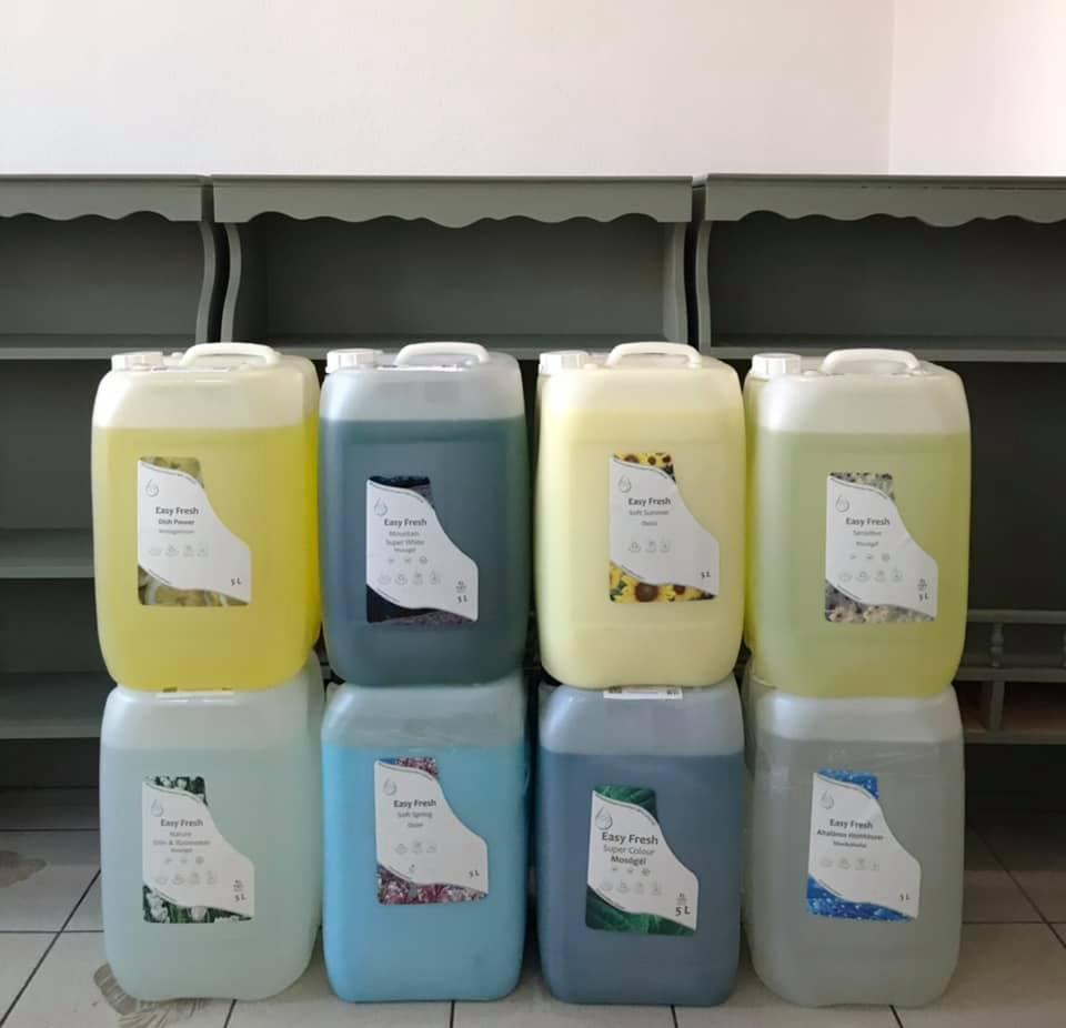 hulladékmentes utántöltős tisztítószerek